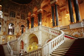 Staircase in the Hermitage, part of the Csar's Winter Palace